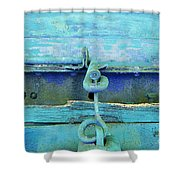 Hitch In Blues Shower Curtain