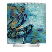 Hither And Thither Shower Curtain