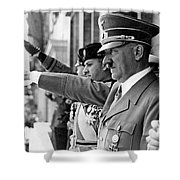 Hitler And Italian Count Ciano Chancellory Berlin 1939 Shower Curtain