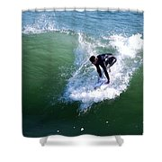 Hitting The Wave Shower Curtain
