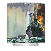 Hk Thirty Three  The Deadly Penguin Shower Curtain