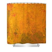 Hkf Yellow Planet Surface Shower Curtain