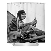 H�l�ne Dutrieu (1877-1961) Shower Curtain