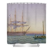 Hm Frigates At Anchor Shower Curtain