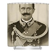 H.m. Victor Emmanuel IIi Of Italy Shower Curtain