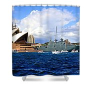 Hmas Adelaide Helps Sydney Celebrate Shower Curtain