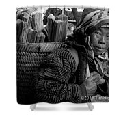 H'mong Woman Shower Curtain