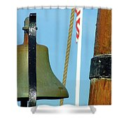 Hms Bounty Ships Bell Shower Curtain