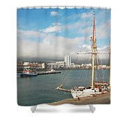 Hms Falken Shower Curtain
