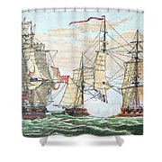 Hms Shannon Vs The American Chesapeake Shower Curtain