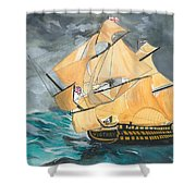 Hms Victory Shower Curtain