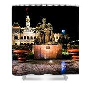 Ho Chi Minh City Hall At Night Shower Curtain