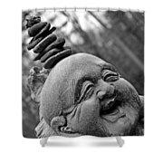 Ho Tai  Buddha Shower Curtain