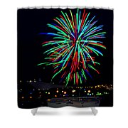 Hobart New Years Eve Fireworks Shower Curtain