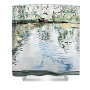 Hobby House And Ripples Shower Curtain