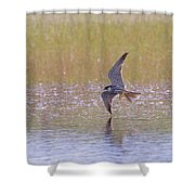 Hobby Skimming Water Shower Curtain