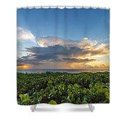 Hobe Sound Beach Sunrise Shower Curtain