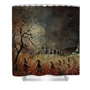 Hobglobins At Night Shower Curtain