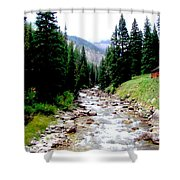 Hobock Canyon Shower Curtain