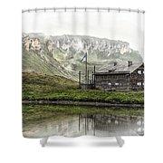 Hochalpenstrasse Shower Curtain