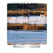 Hockey Game Shower Curtain