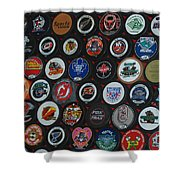 Hockey Pucks Shower Curtain