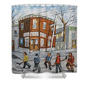 Hockey Town Montreal Created By Prankearts Shower Curtain