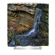 Hocking Hills State Park Small Waterfall Shower Curtain