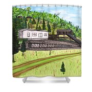 Hocking Valley Mine Shower Curtain