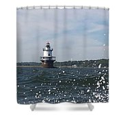 Hog Island Shoal Lighthouse Shower Curtain