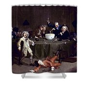 Hogarth: Midnight, 1731 Shower Curtain
