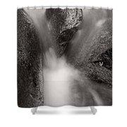 Hogback Creek And Granite Inyo Natl Forest Bw Shower Curtain by Steve Gadomski