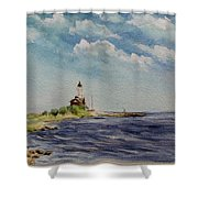 Hogby Lighthouse Shower Curtain