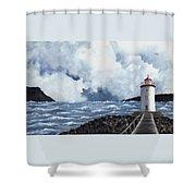 Hogsteinen Lighthouse Shower Curtain