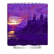 Hogwarts In Purple Shower Curtain
