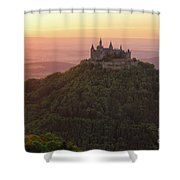 Hohenzollern Castle At Sunset Shower Curtain by Yair Karelic
