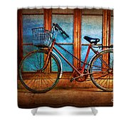 Hoi An Bike Shower Curtain