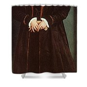 Holbein Christina Of Denmark- Duchess Of Milan 1538 Nation Hans The Younger Holbein Shower Curtain