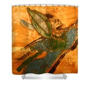 Hold On - Tile Shower Curtain