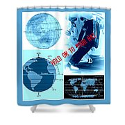 Hold On To Your Hat World Shower Curtain