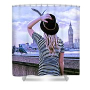 Hold Onto Your Hat Shower Curtain