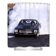 Holden Doing Burnout Shower Curtain
