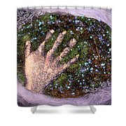 Holding Earth From The Series Our Book Of Common Faith Shower Curtain