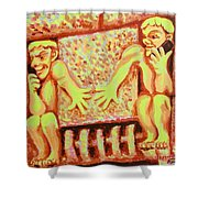 Holding For Hilda Shower Curtain