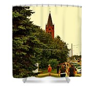 Holding Hands Shower Curtain
