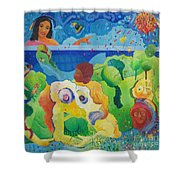 Holding Lifes Illusion Shower Curtain