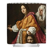 Holding The Head Of Holofernes Shower Curtain