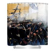 Holding The Line At Gettysburg Shower Curtain