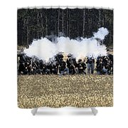 Holding The Line Shower Curtain