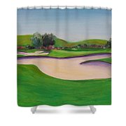 Hole 10 Pastures Of Heaven Shower Curtain